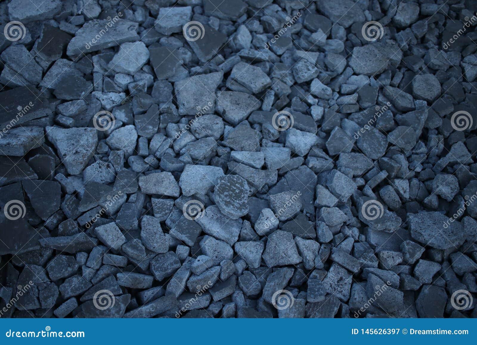 Broken stone and mortar