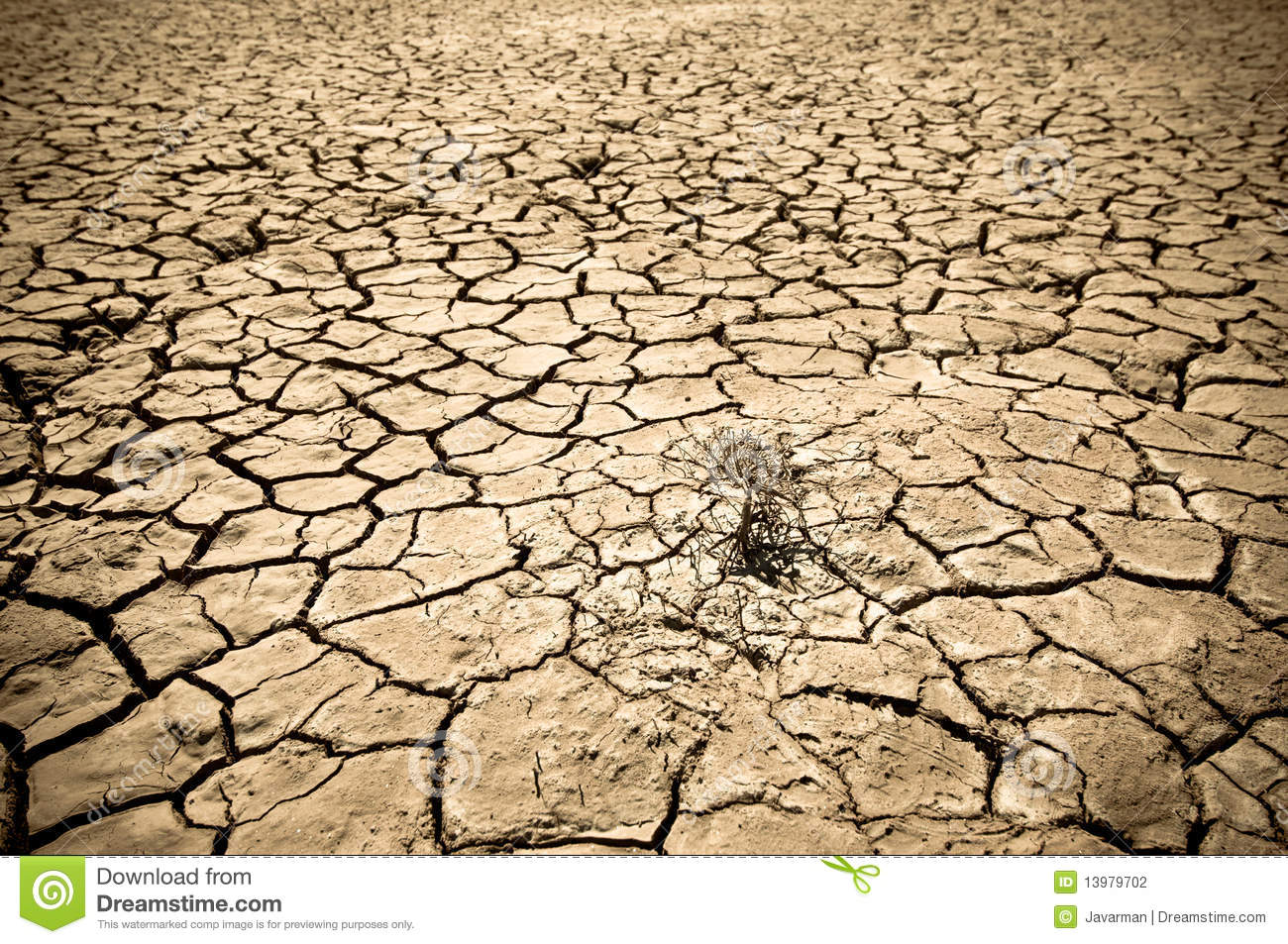 Cracked Soil Of Desert Stock Photography - Image: 13979702