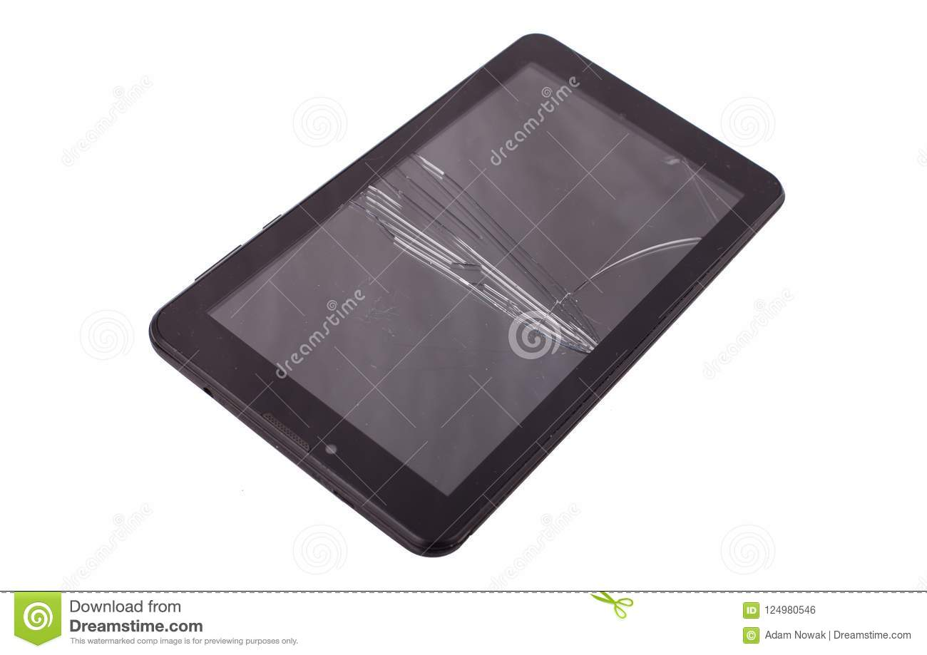 cracked tablet glasbruch stock photo image of professional