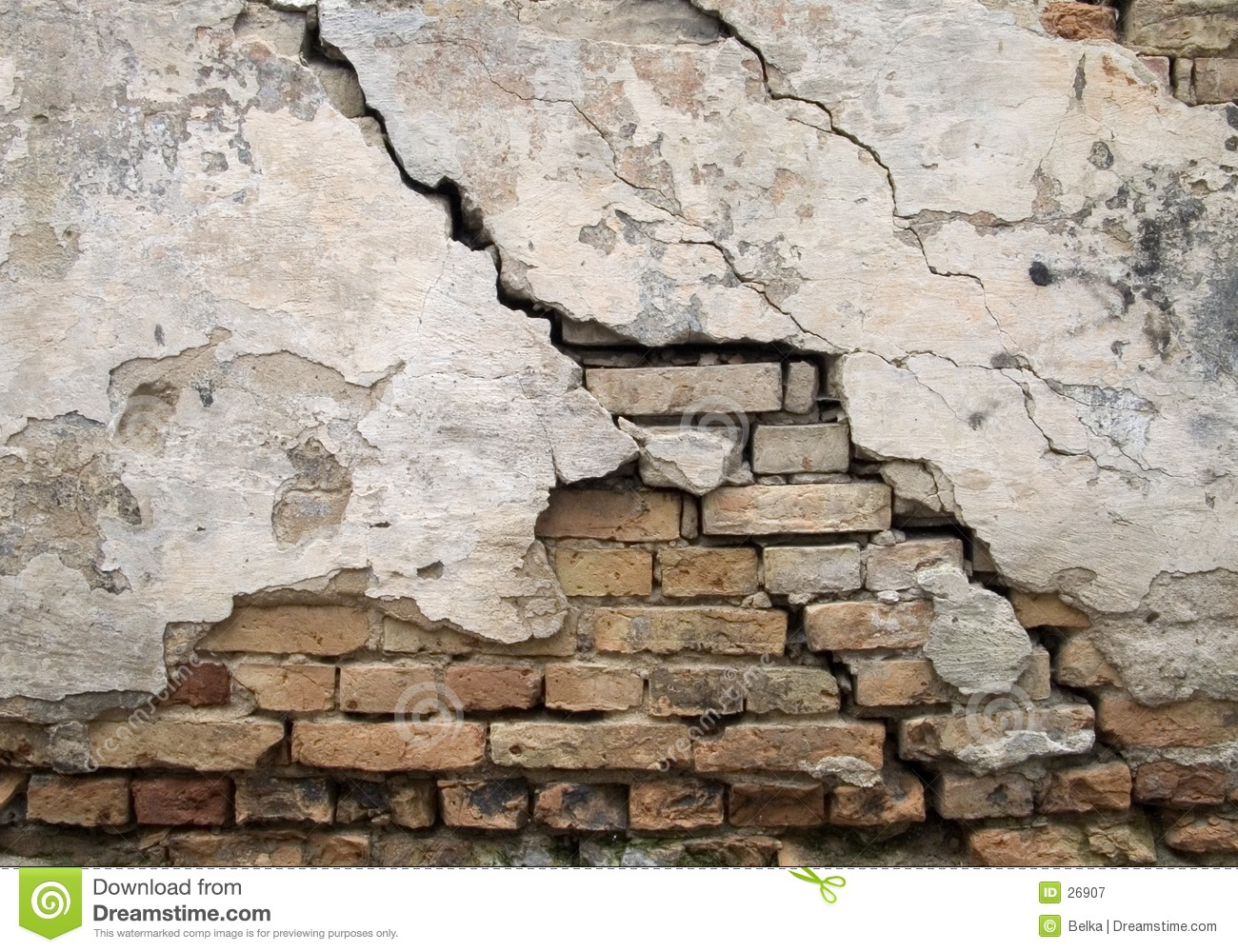 Cracked wall royalty free stock photography image 26907