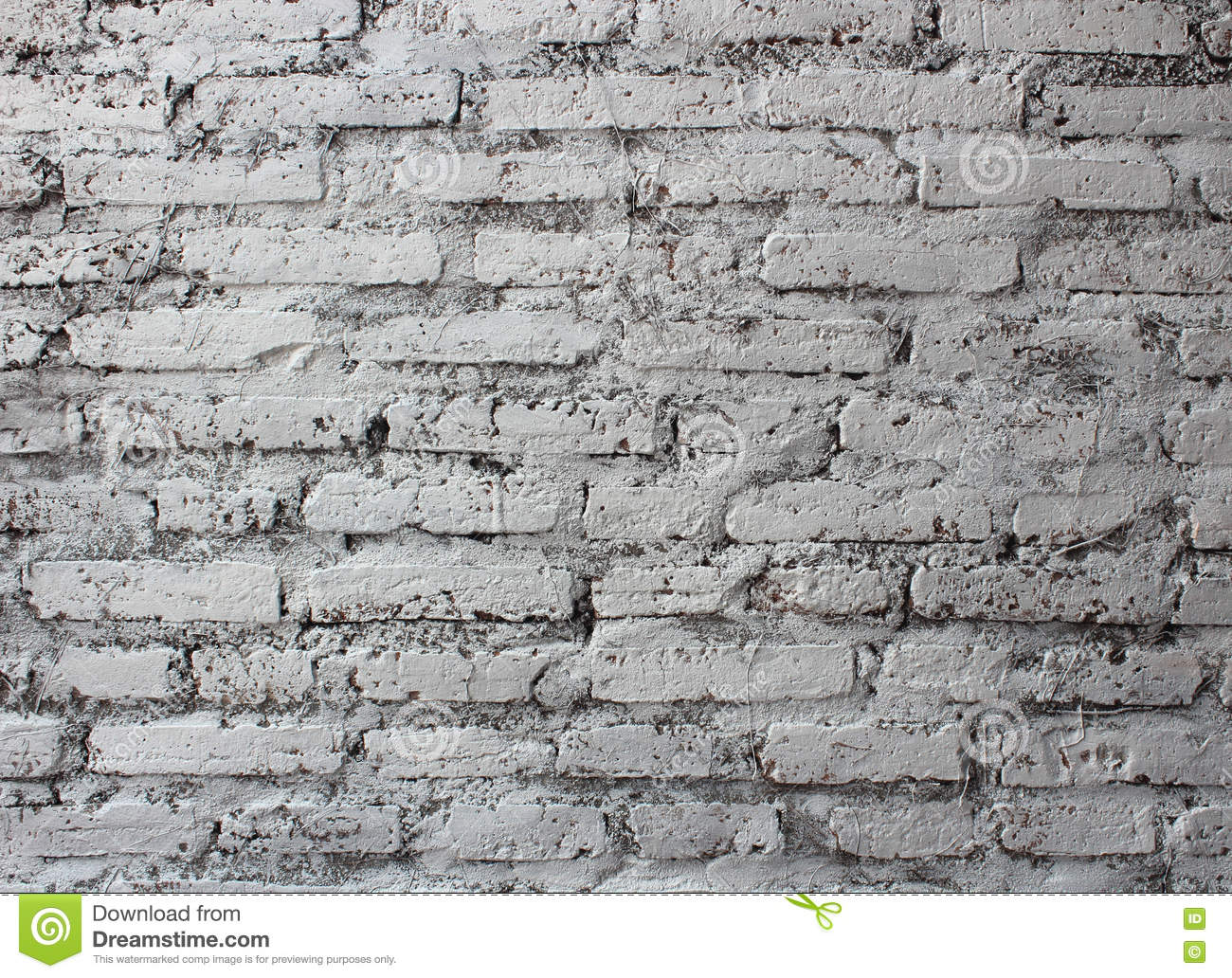 Cracked White Brick Wall Background Stock Photo - Image ...