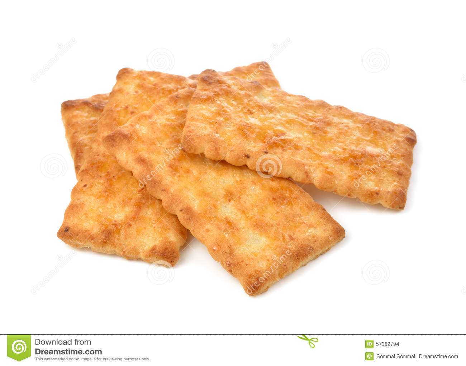 Cracker die op witte achtergrond wordt geïsoleerdg