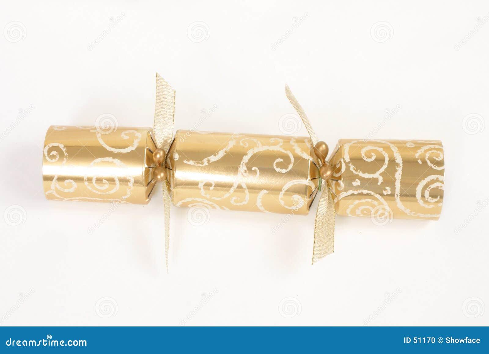 Cracker dorato di natale