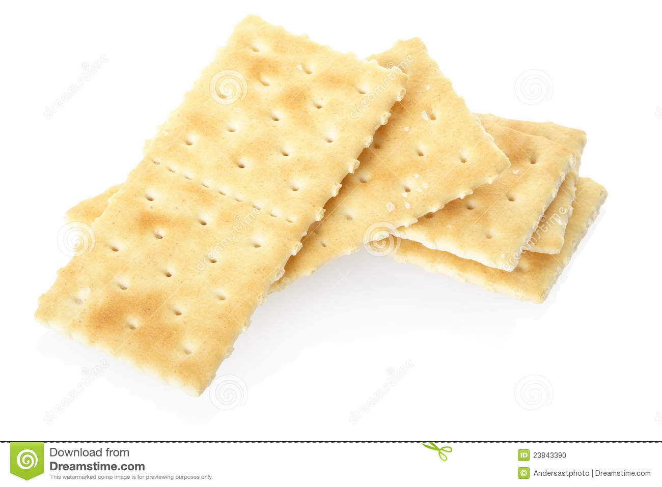 Crackers pile on white, clipping path included.