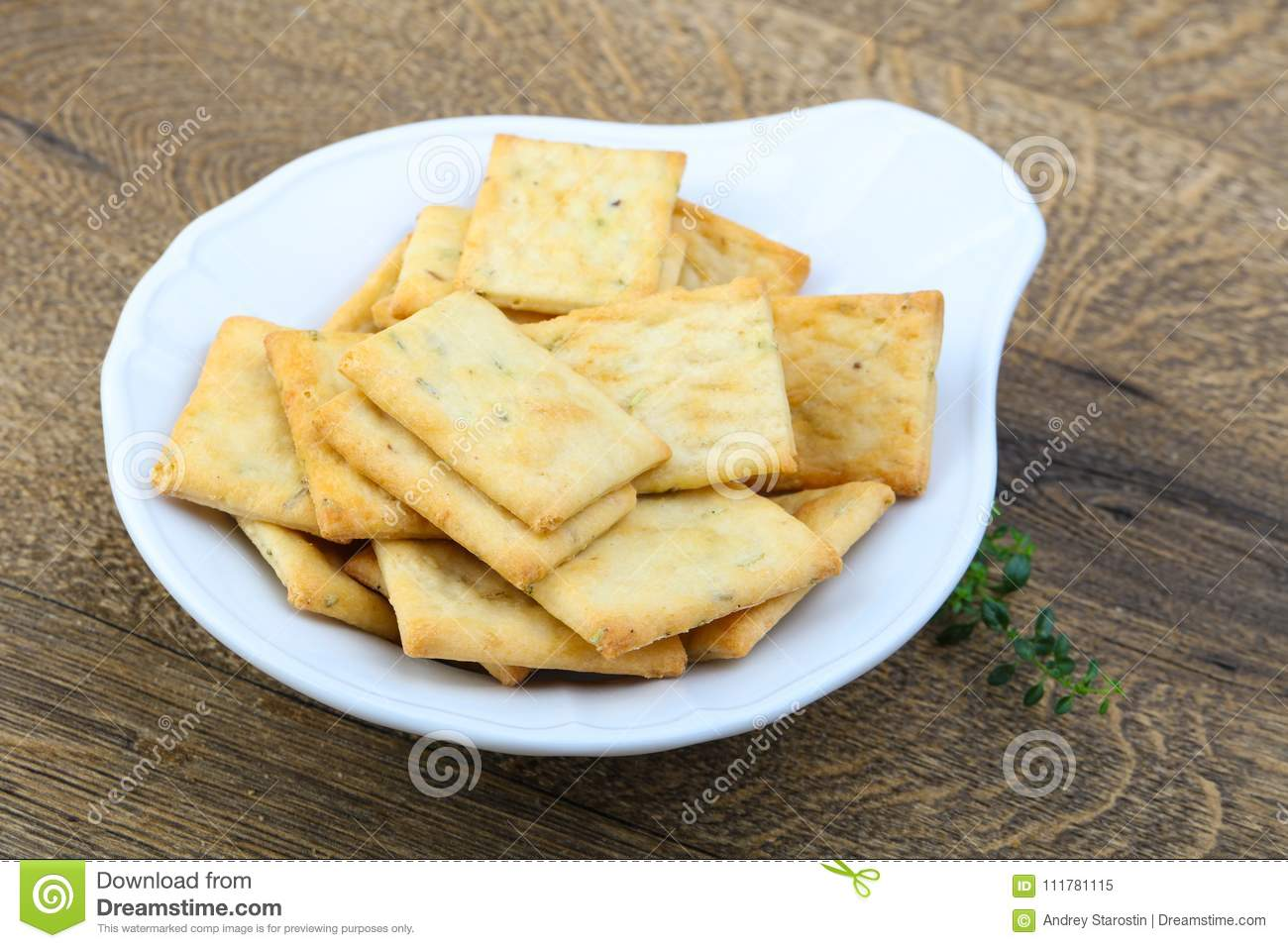 Crackers in the bowl