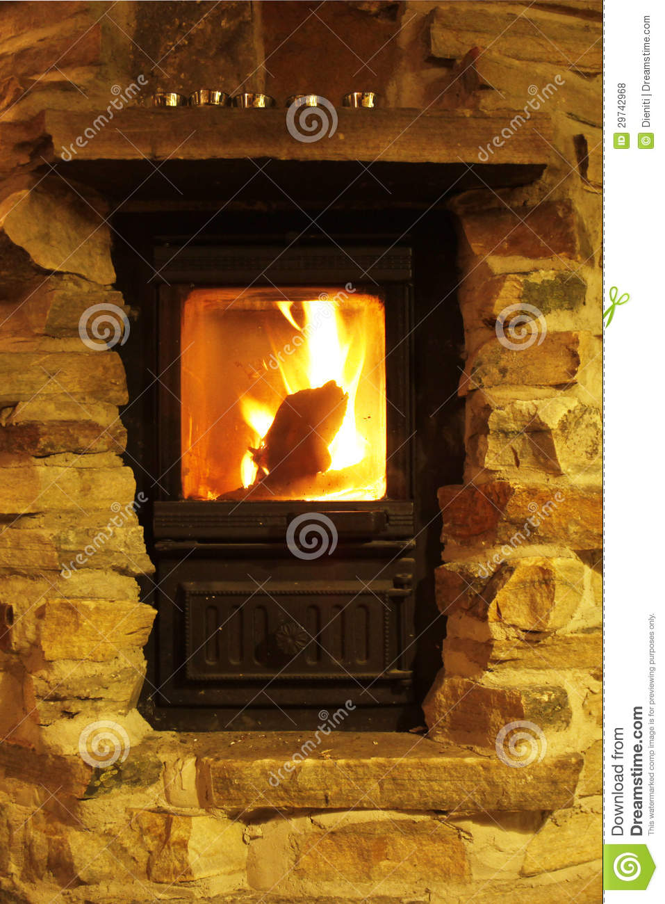 crackling fire cozy atmosphere royalty free stock photos image