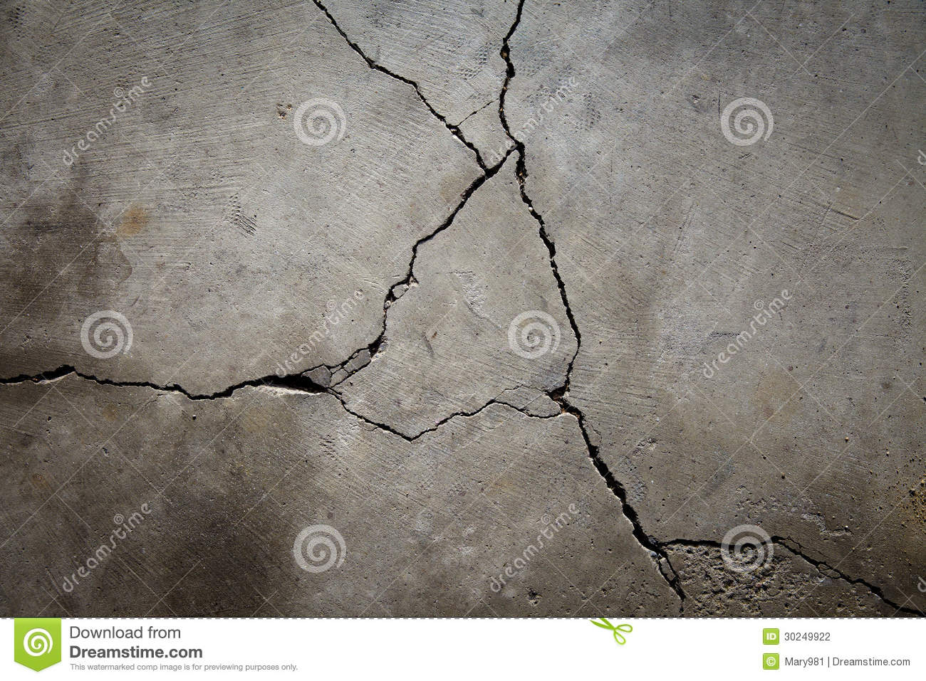 Cracked Cement Floor Stock Photography Image 30249922
