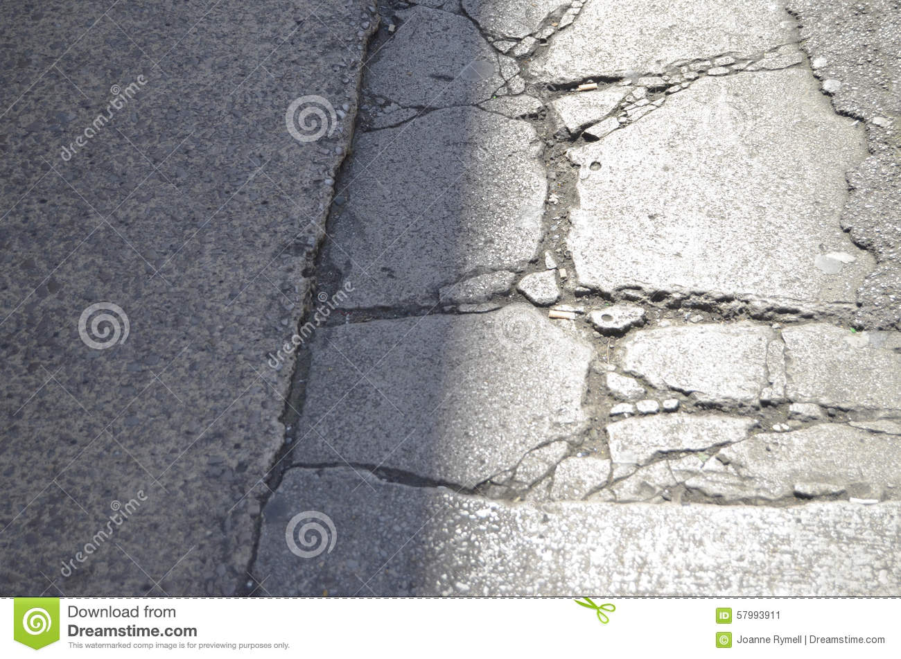 Cracks In The Pavement Stock Photo Image 57993911