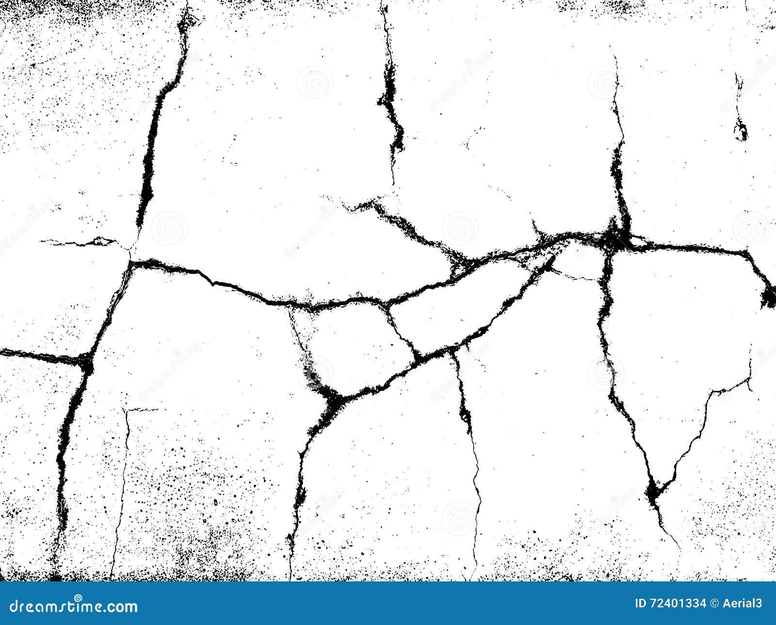 Cracks texture overlay. Vector background