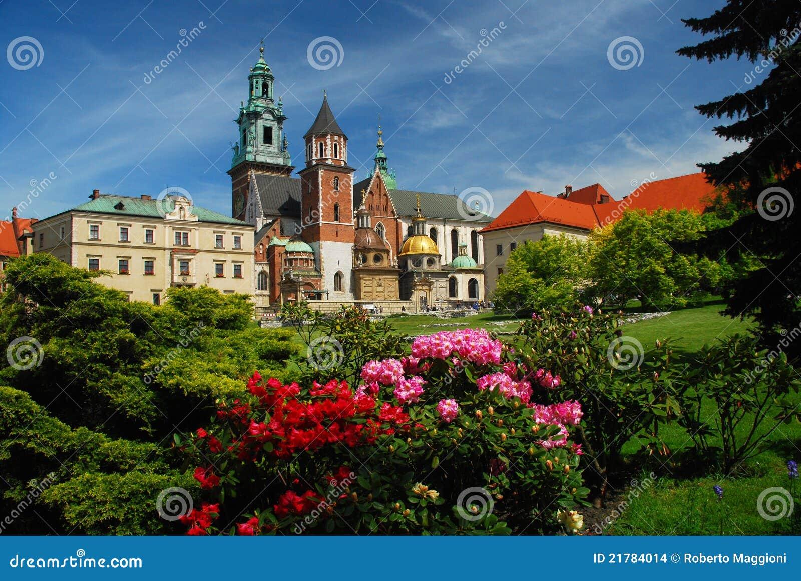 Cracovia, Polonia. Cattedrale e castello di Wawel