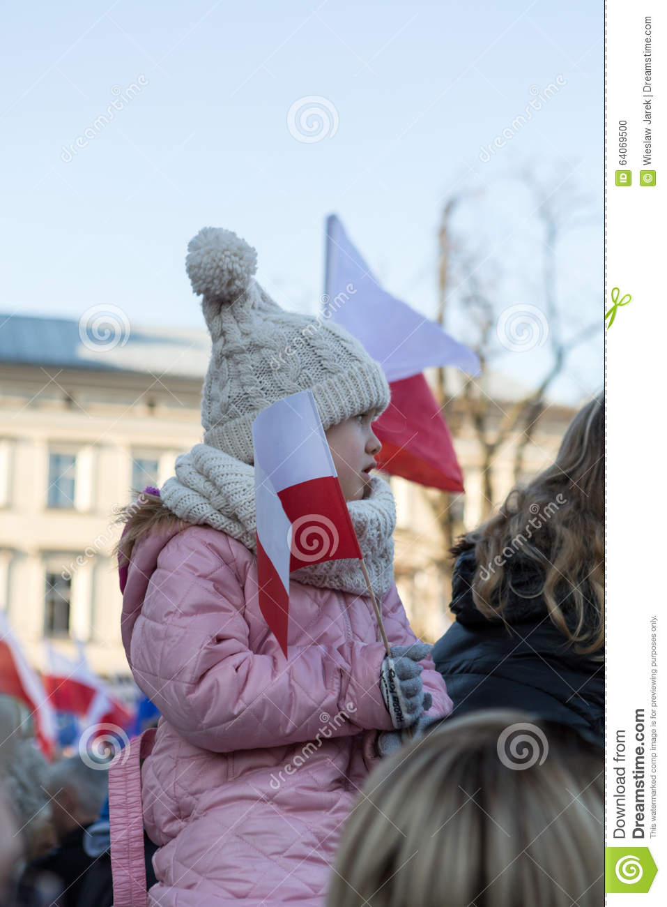 Cracow, Main Square - The demonstration of the Committee of the Protection of Democracy