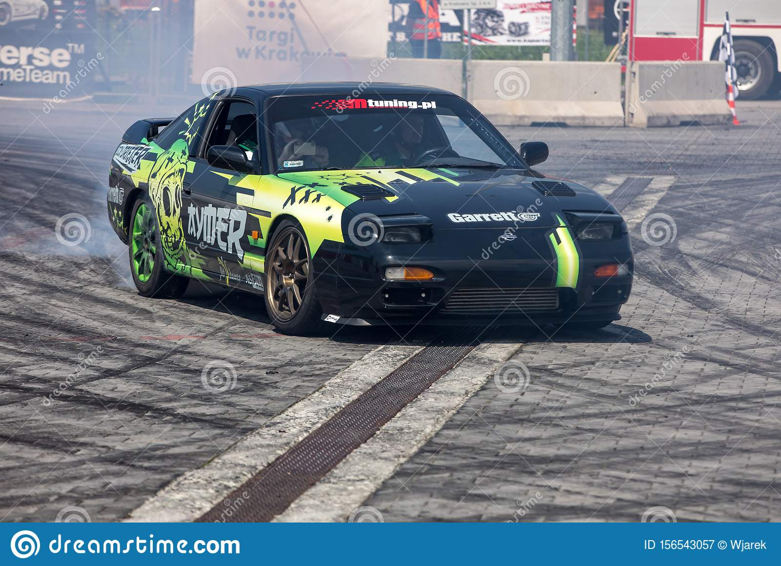 Drift Car In Action At 5th Edition Of Moto Show In Cracow Poland Editorial Photography Image Of Oversteers Drift 156543057