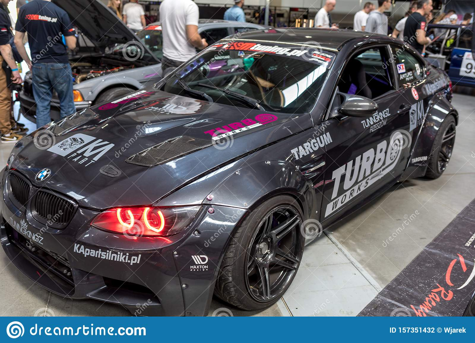 Drift Car Displayed At Moto Show In Cracow Poland Editorial Photography Image Of Luxury Headlight 157351432