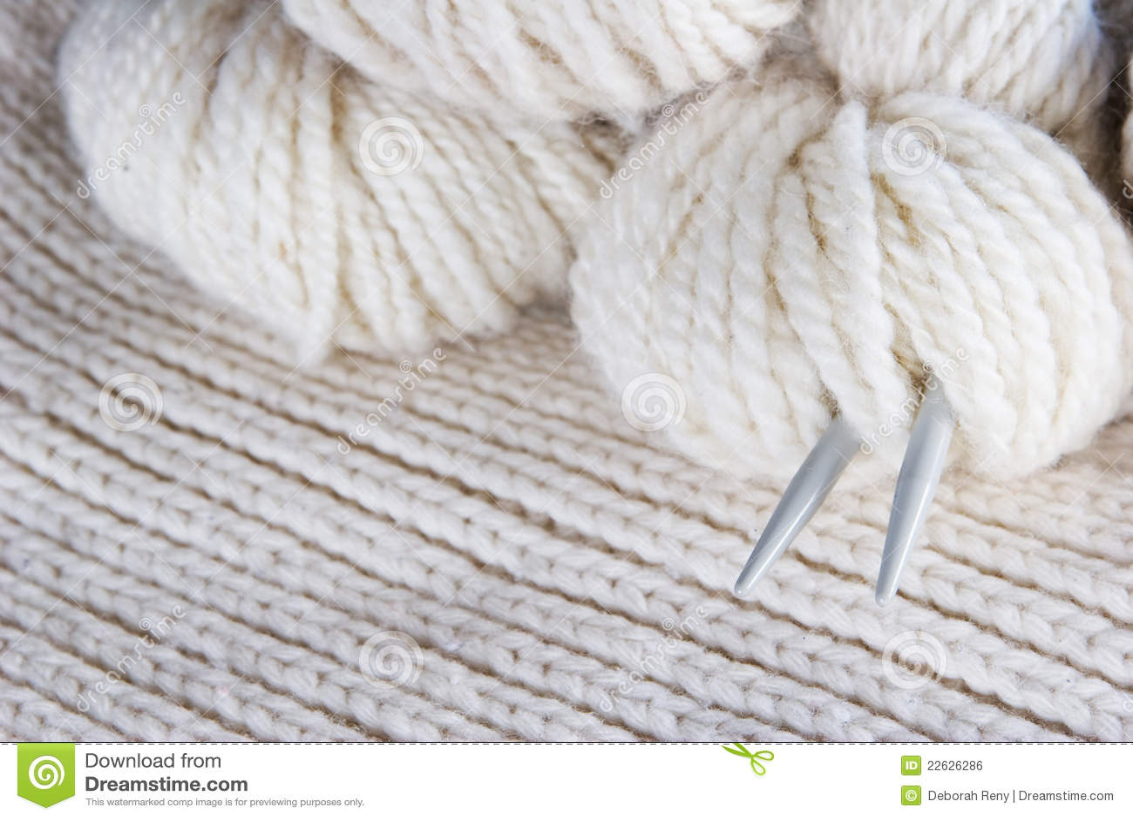 Craft Background Knitting Royalty Free Stock Image