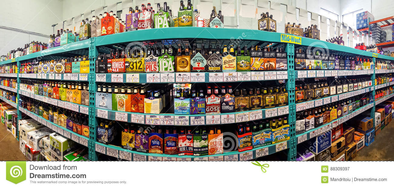 Craft Beer Aisle In A Bottle King Store Editorial