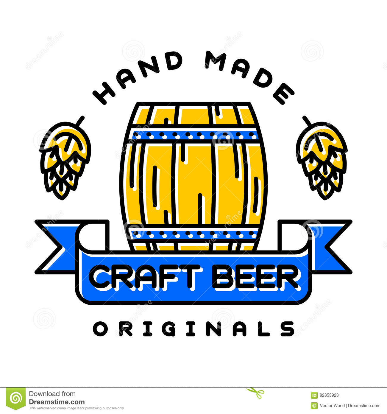 Craft beer bages vector stock vector image of logotype for Craft beer logo design