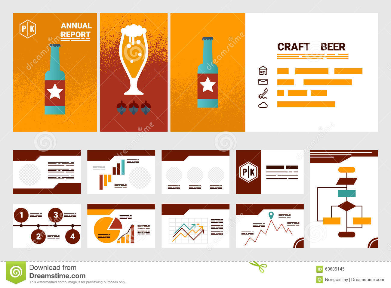 craft beer book cover and presentation template stock vector craft beer company annual report cover a4 sheet and presentation royalty stock photo