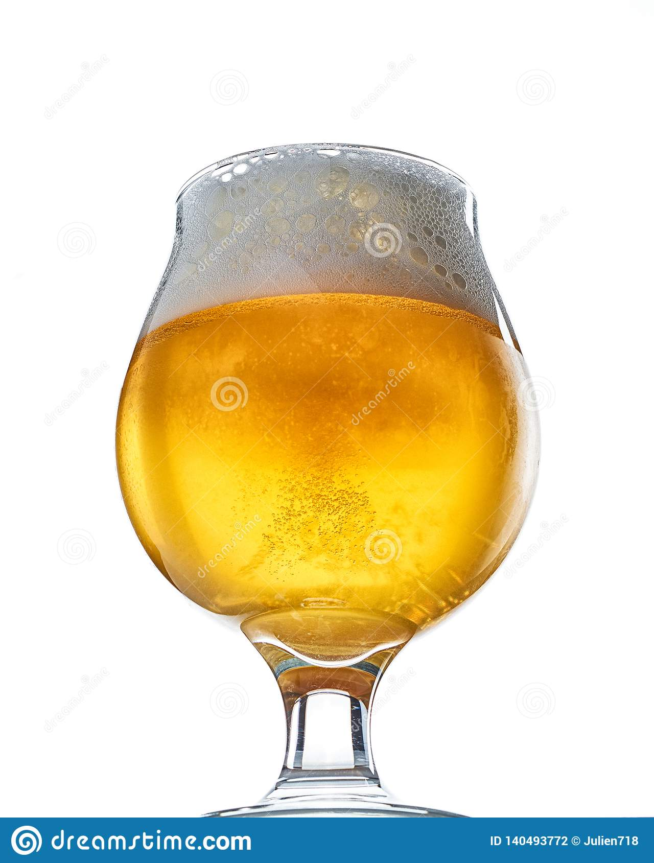 Craft Beer Goblet on White