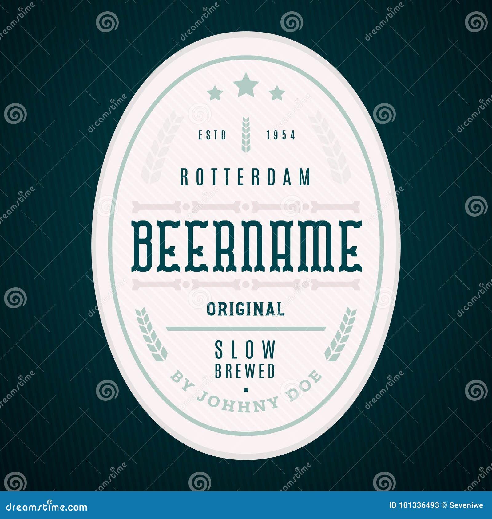 Craft Beer Label Template Modern Design