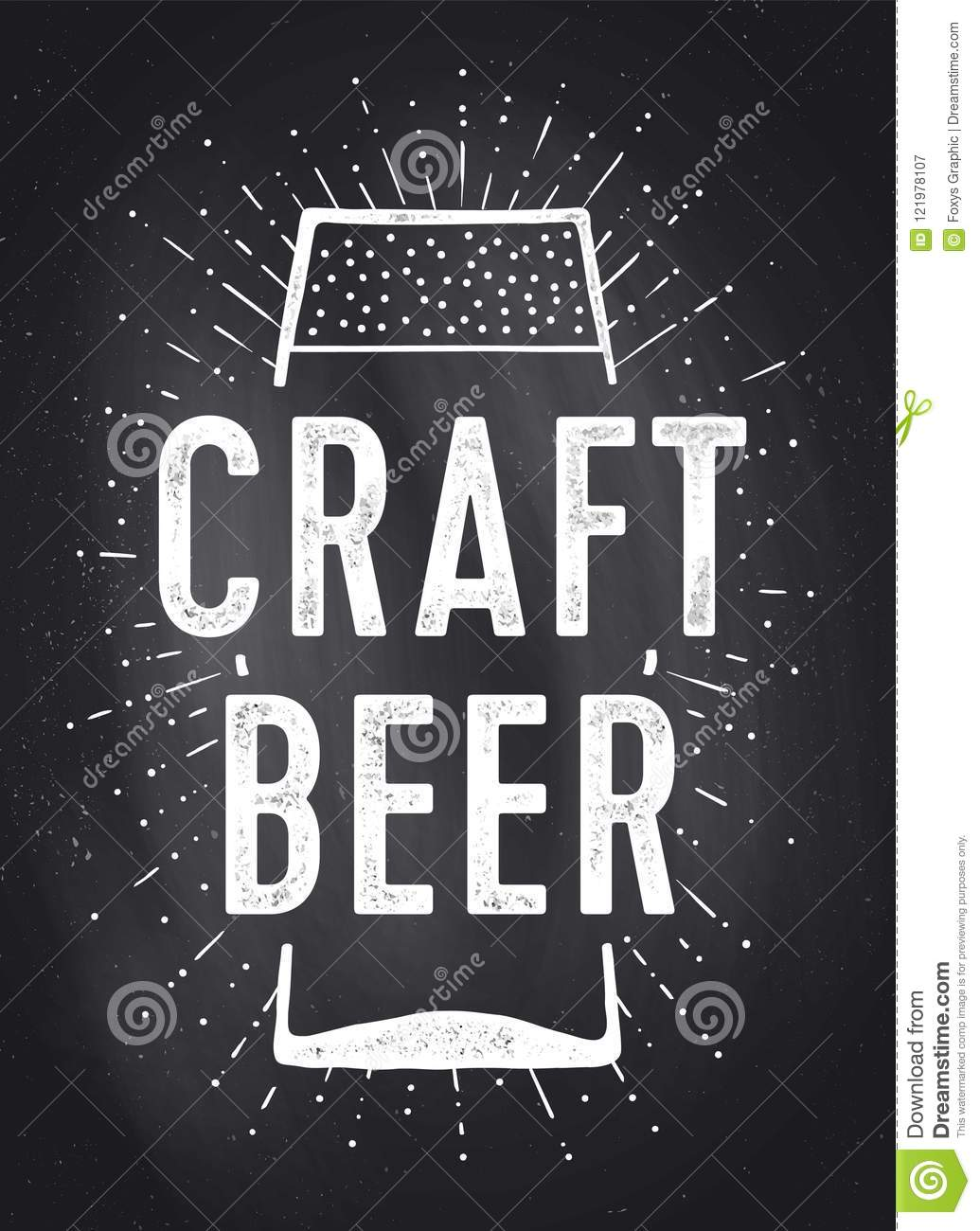 Craft Beer Poster Or Banner Stock Vector Illustration Of Graphic