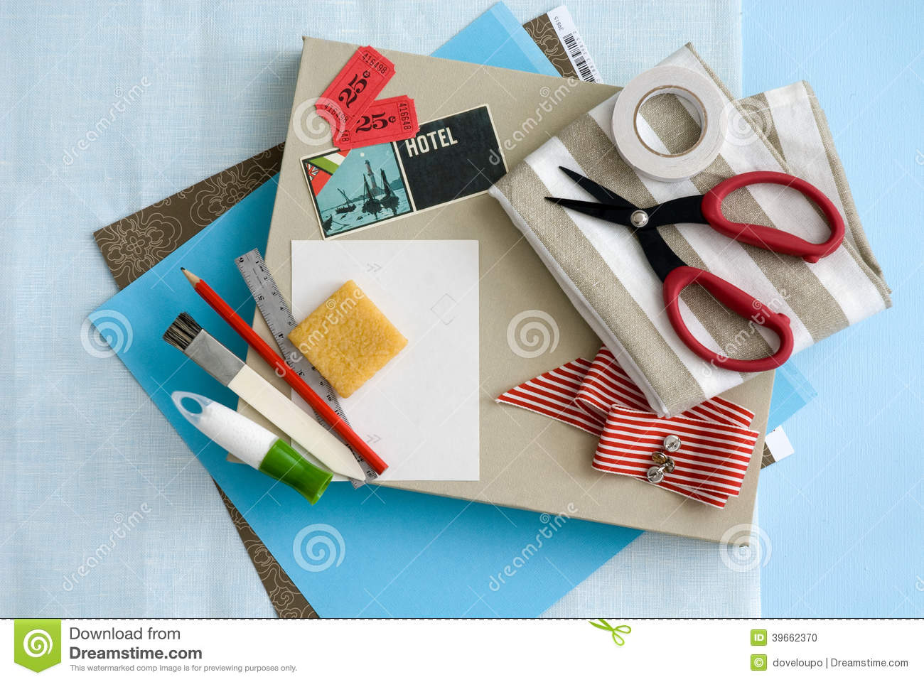 Craft and card stationary supplies stock photo image for Craft supplies for card making