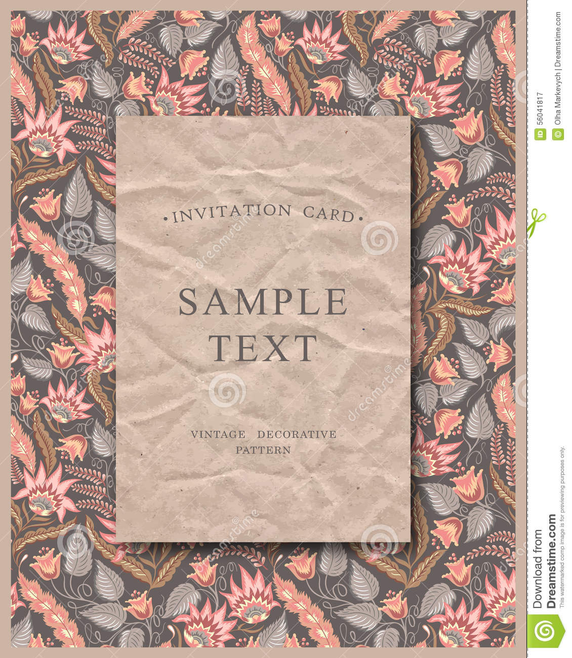 Craft card stock vector image 56041817 for Craft paper card stock