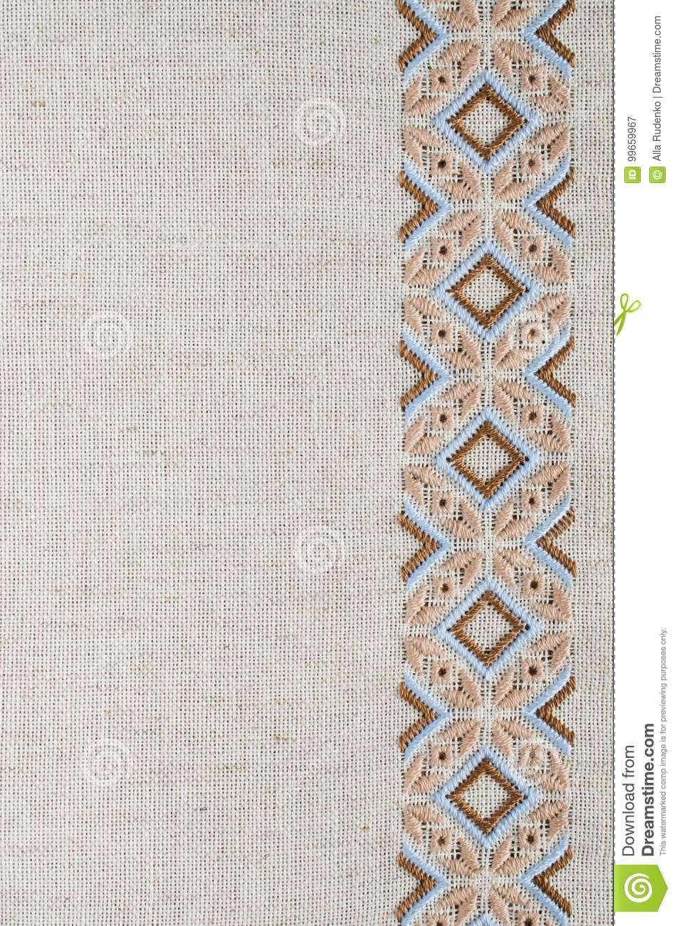 Craft embroidery. Design of ethnic pattern.