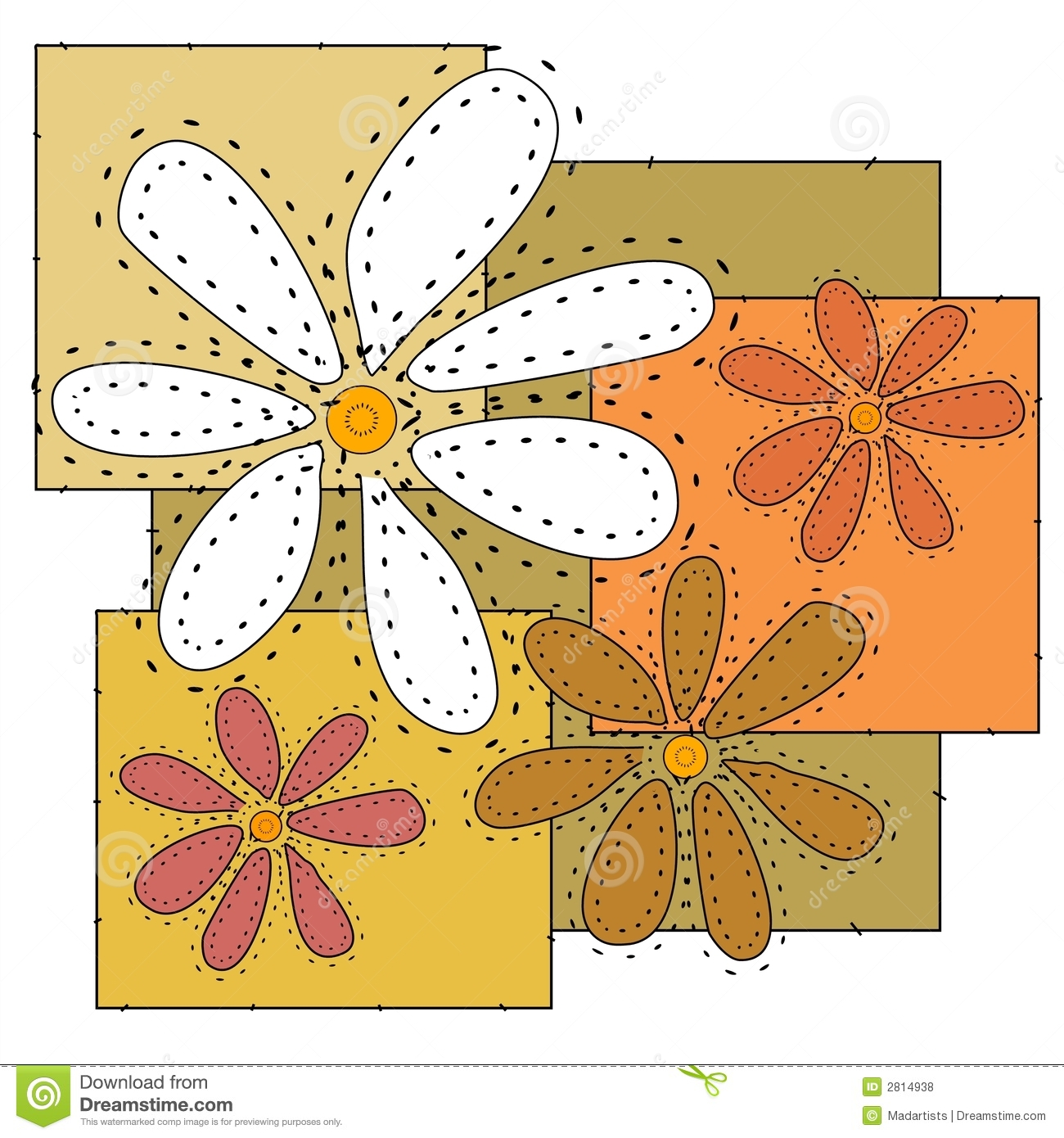 Craft Flowers Quilt Background Royalty Free Stock Photos ...