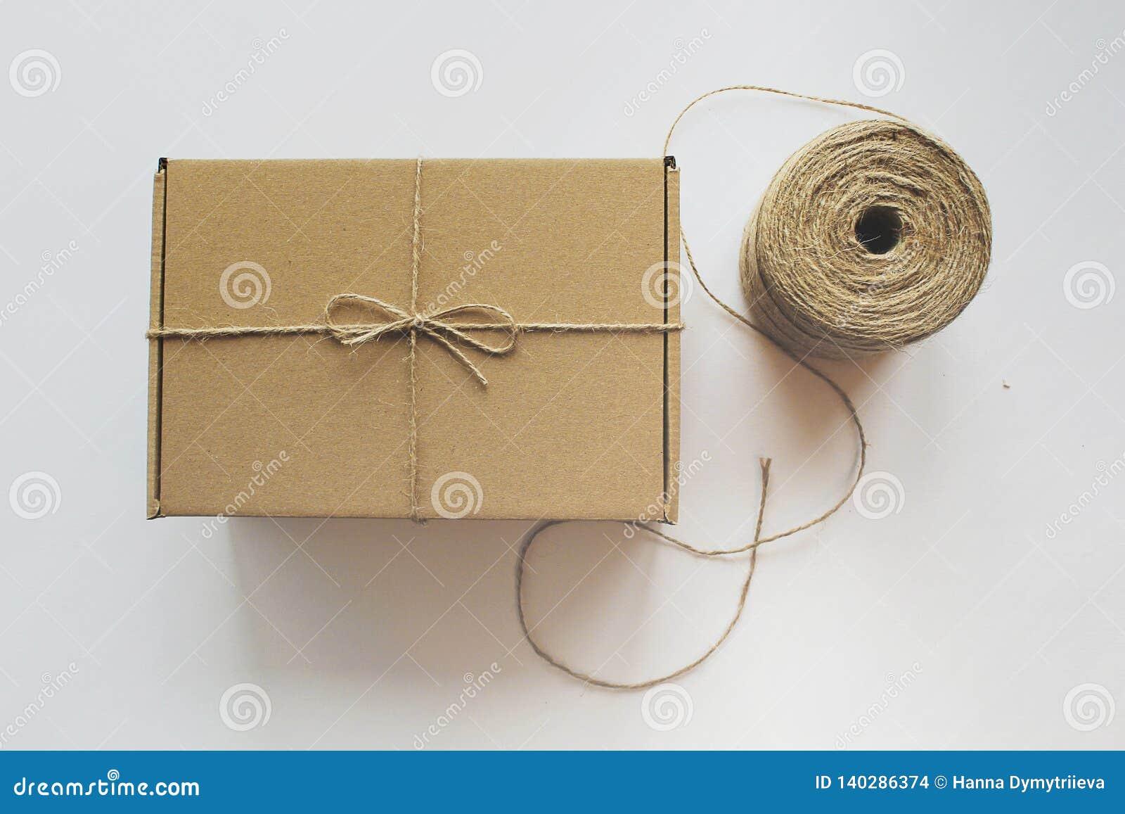 Craft gift box hank of rope