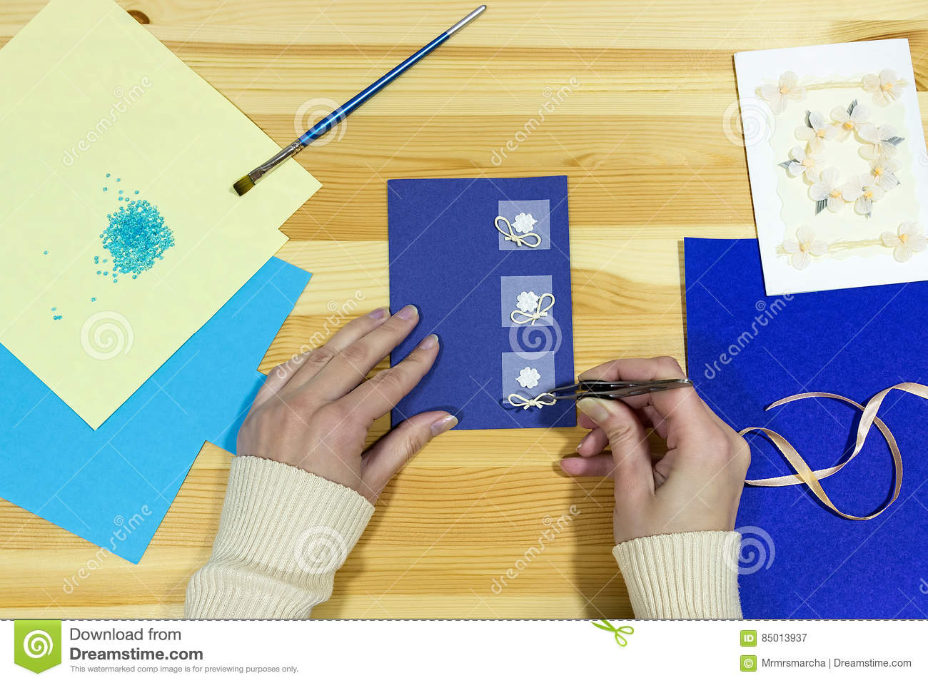 Craft Greeting Card Income From Hobbies Home Business Stock Image