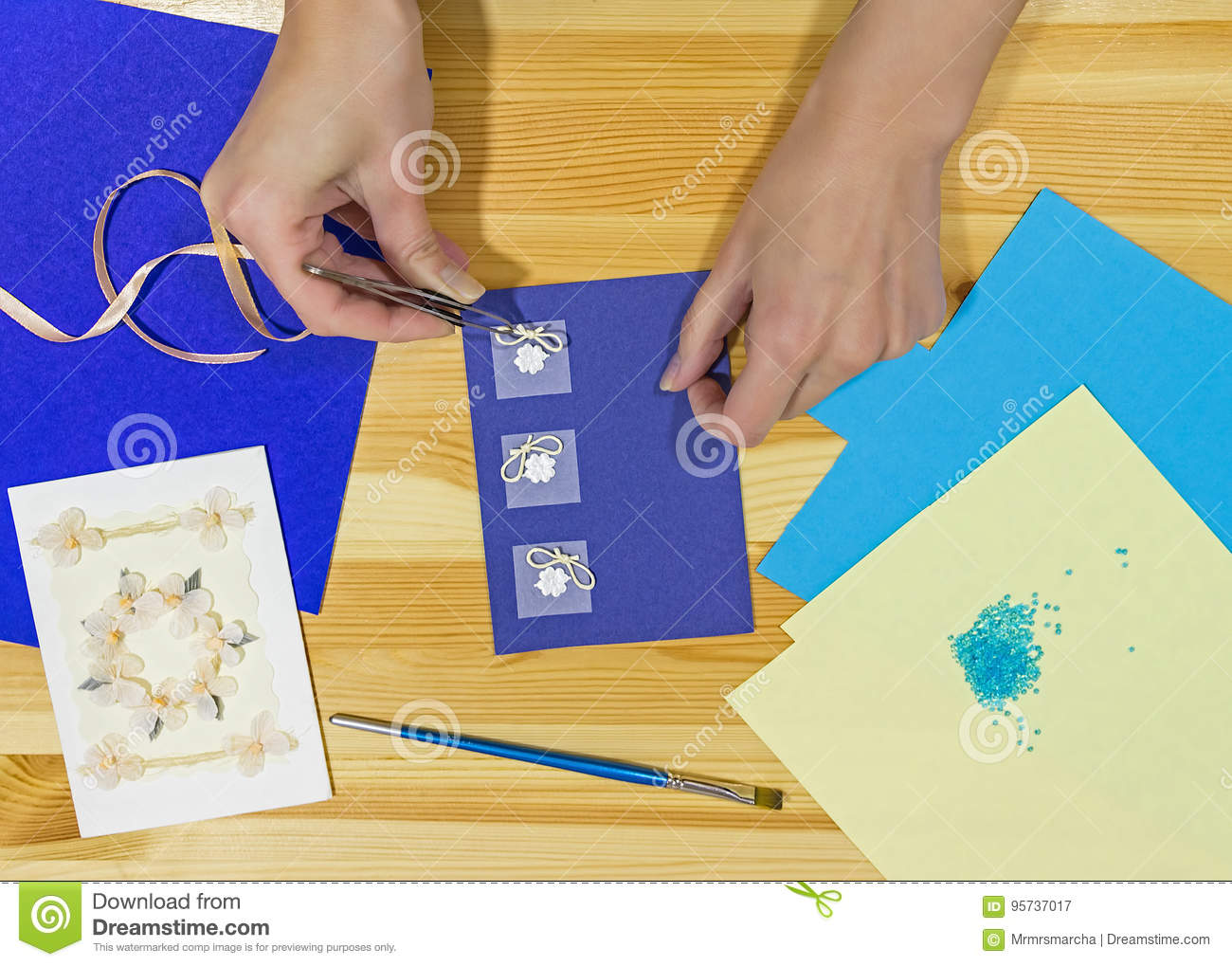 Craft greeting card income from hobbies home business stock image craft greeting card income from hobbies home business m4hsunfo