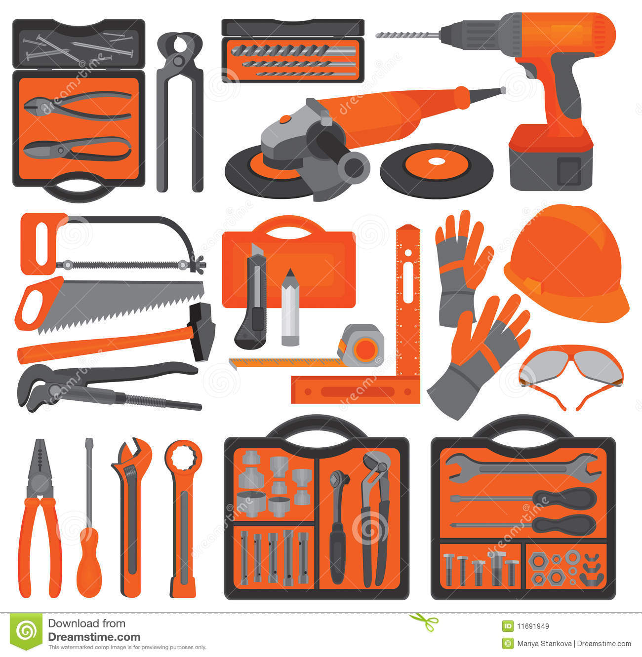 Craft Icons – Hand Tools (Set 1) Royalty Free Stock Images - Image ...