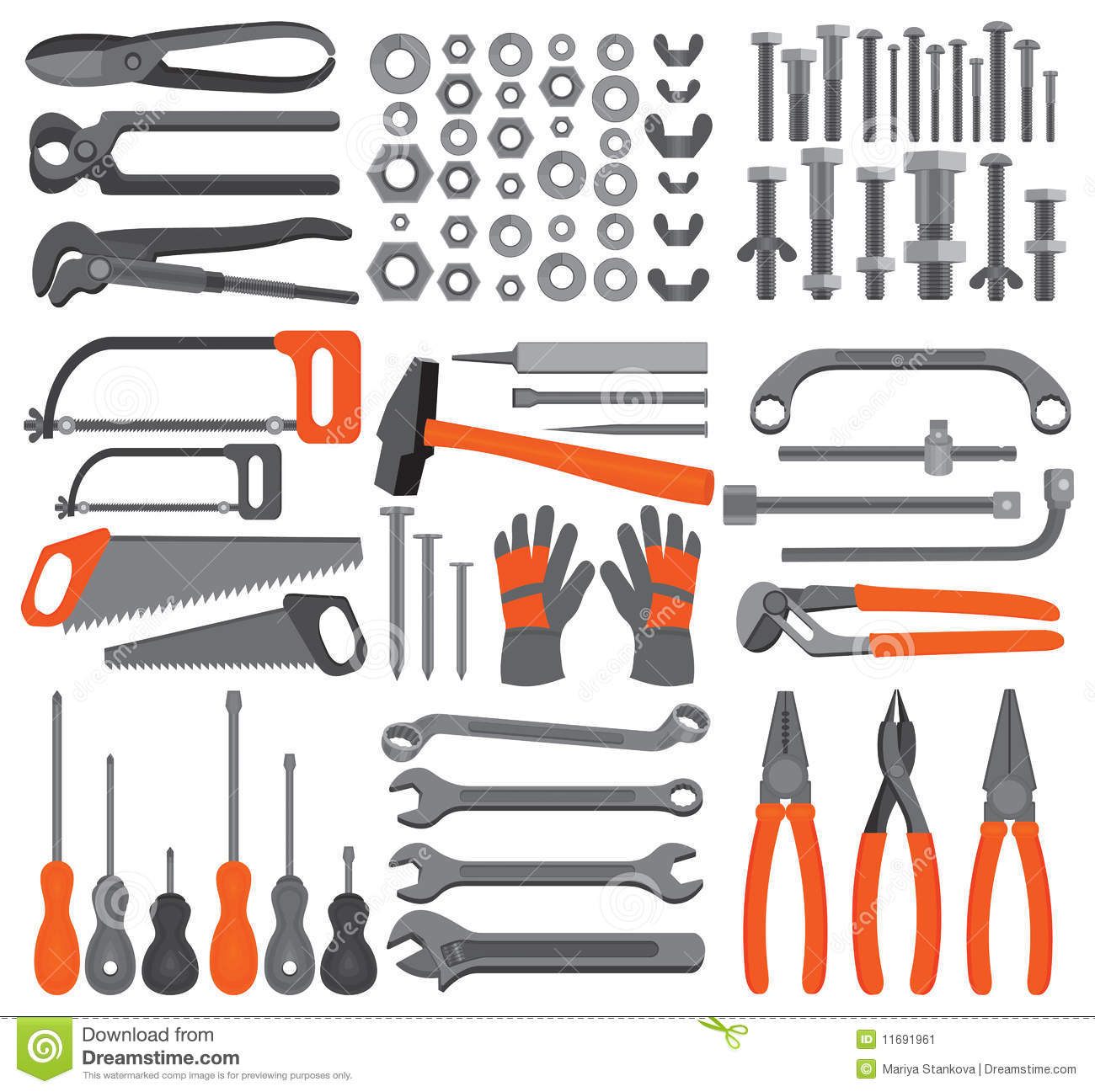 Craft Icons – Hand Tools (Set 4) Stock Image - Image: 11691961
