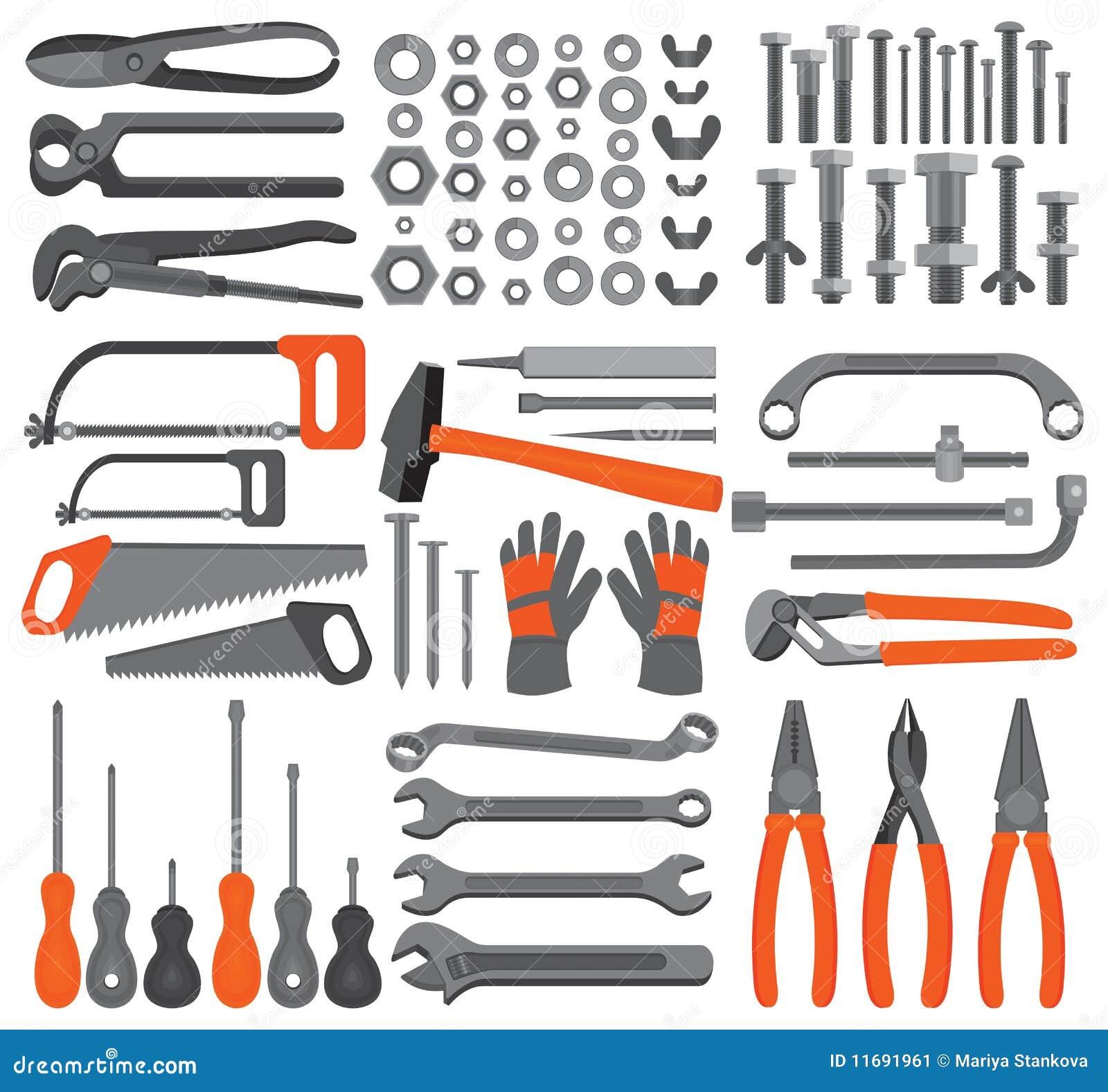 Online Garage Design Tool Craft Icons Hand Tools Set 4 Stock Image Image 11691961
