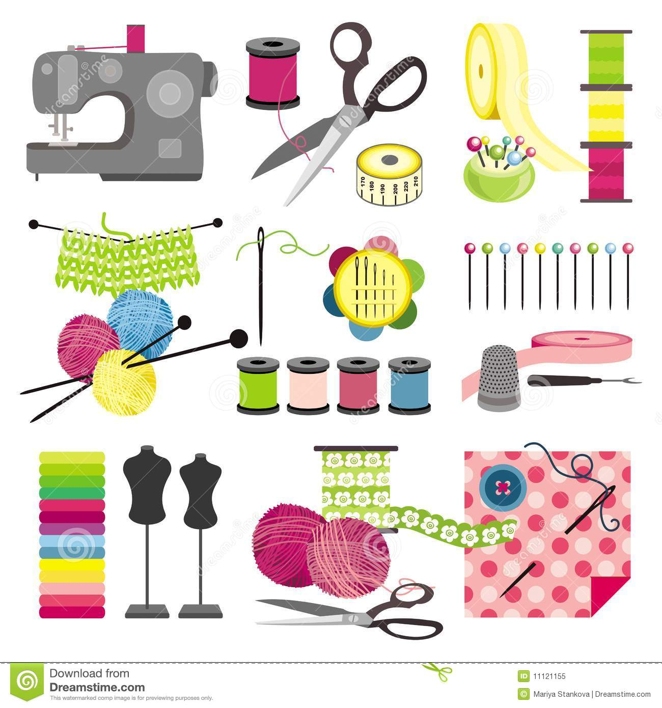 Craft icons sewing royalty free stock photo image for Crafts and hobbies ideas