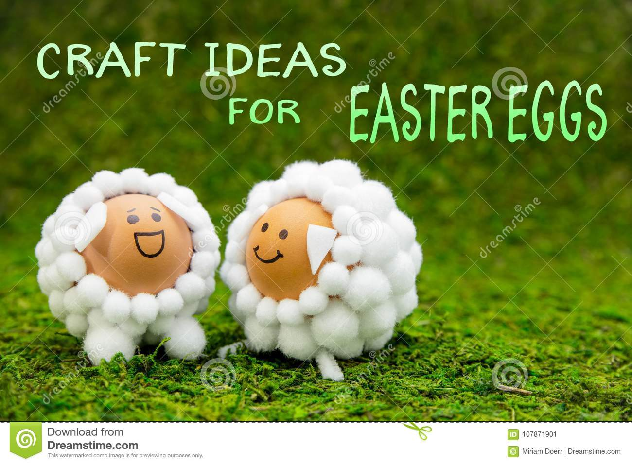 Craft Ideas For Easter Eggs Two Funny Lambs Or Sheep Shaped Egg