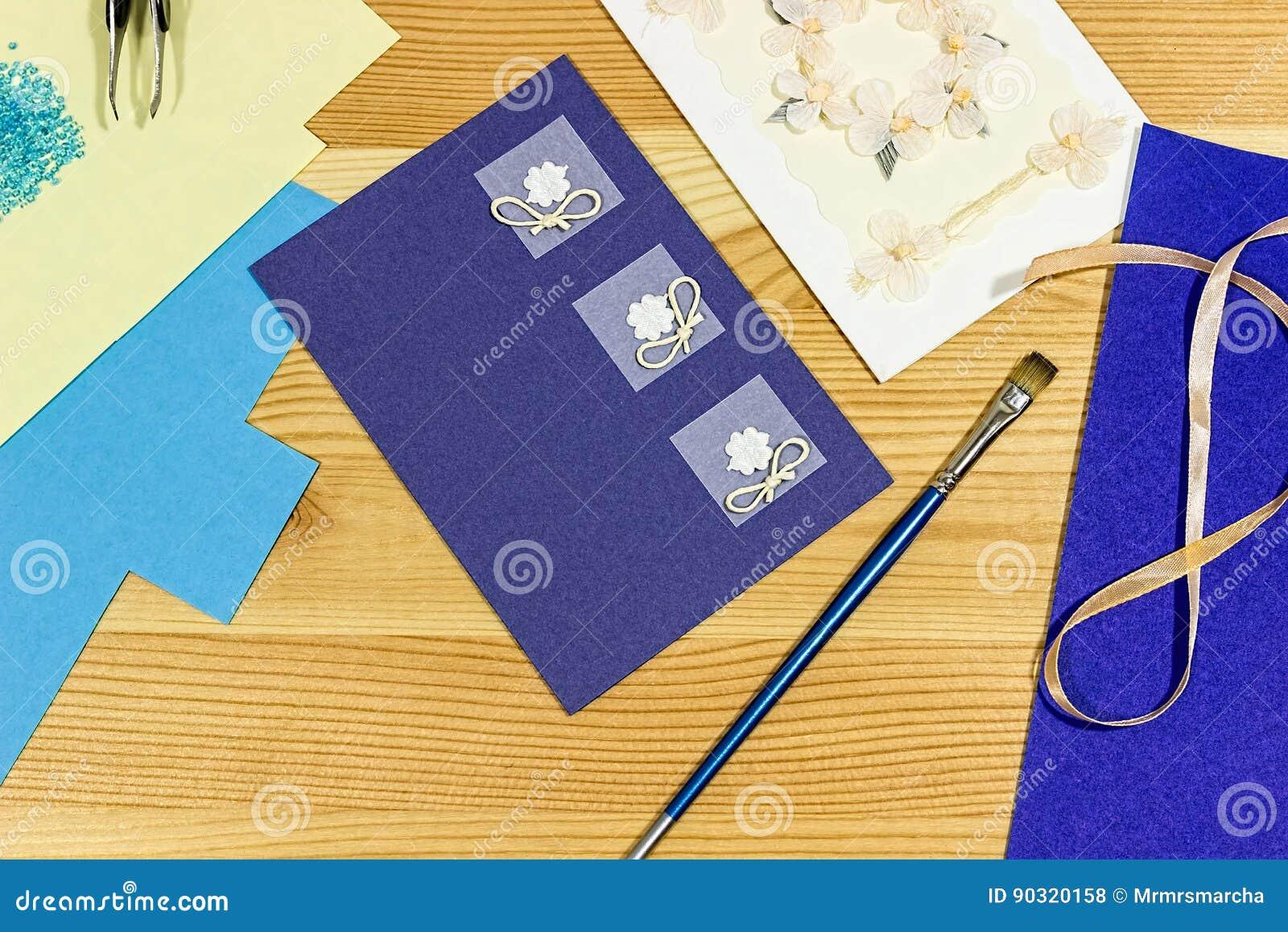 Craft Making Making A Greeting Card Stock Photo Image Of Craft