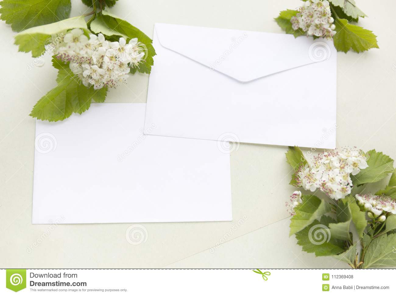 Craft paper sheets and white envelope blank card with for Craft paper card stock