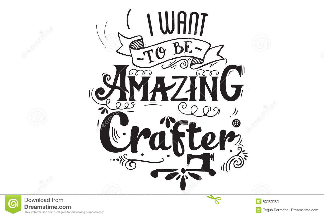 Crafting Quotes | Craft Vector Quote Stock Vector Illustration Of Machine
