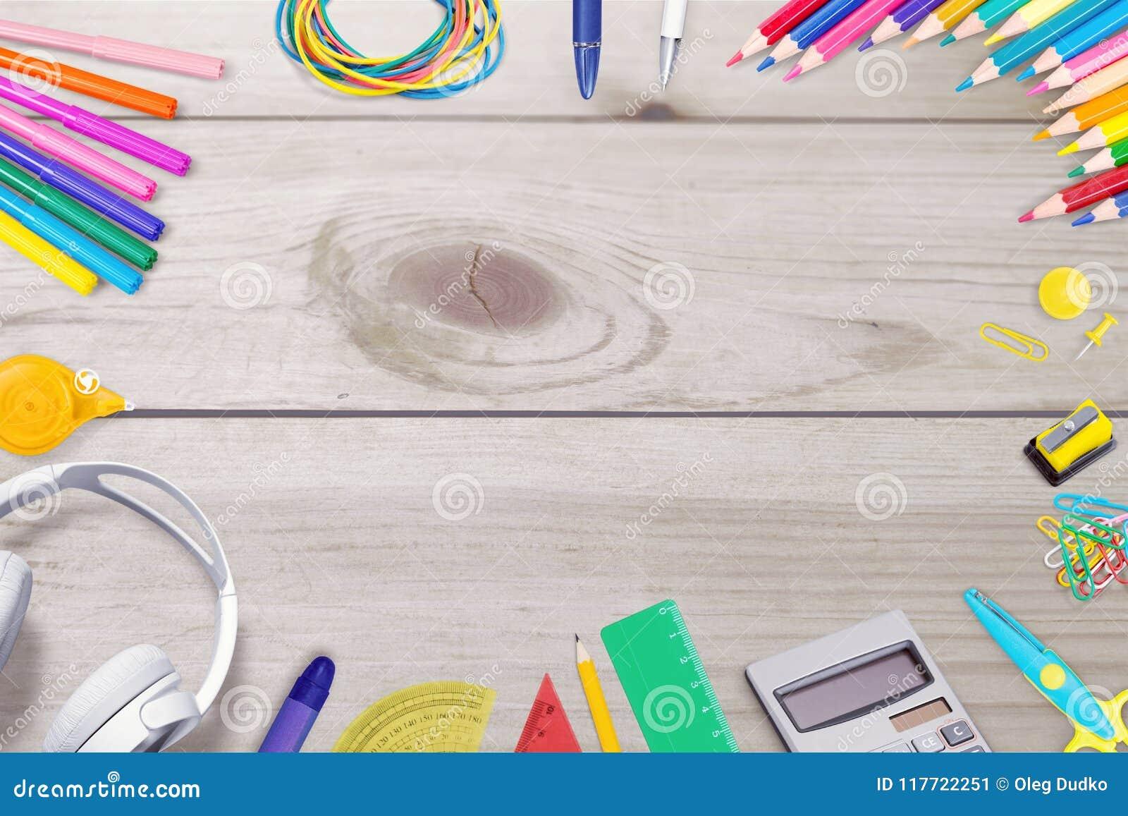 crafts stock image image of pencil desktop background 117722251 https www dreamstime com crafts crafts art desk artist top background desktop image117722251