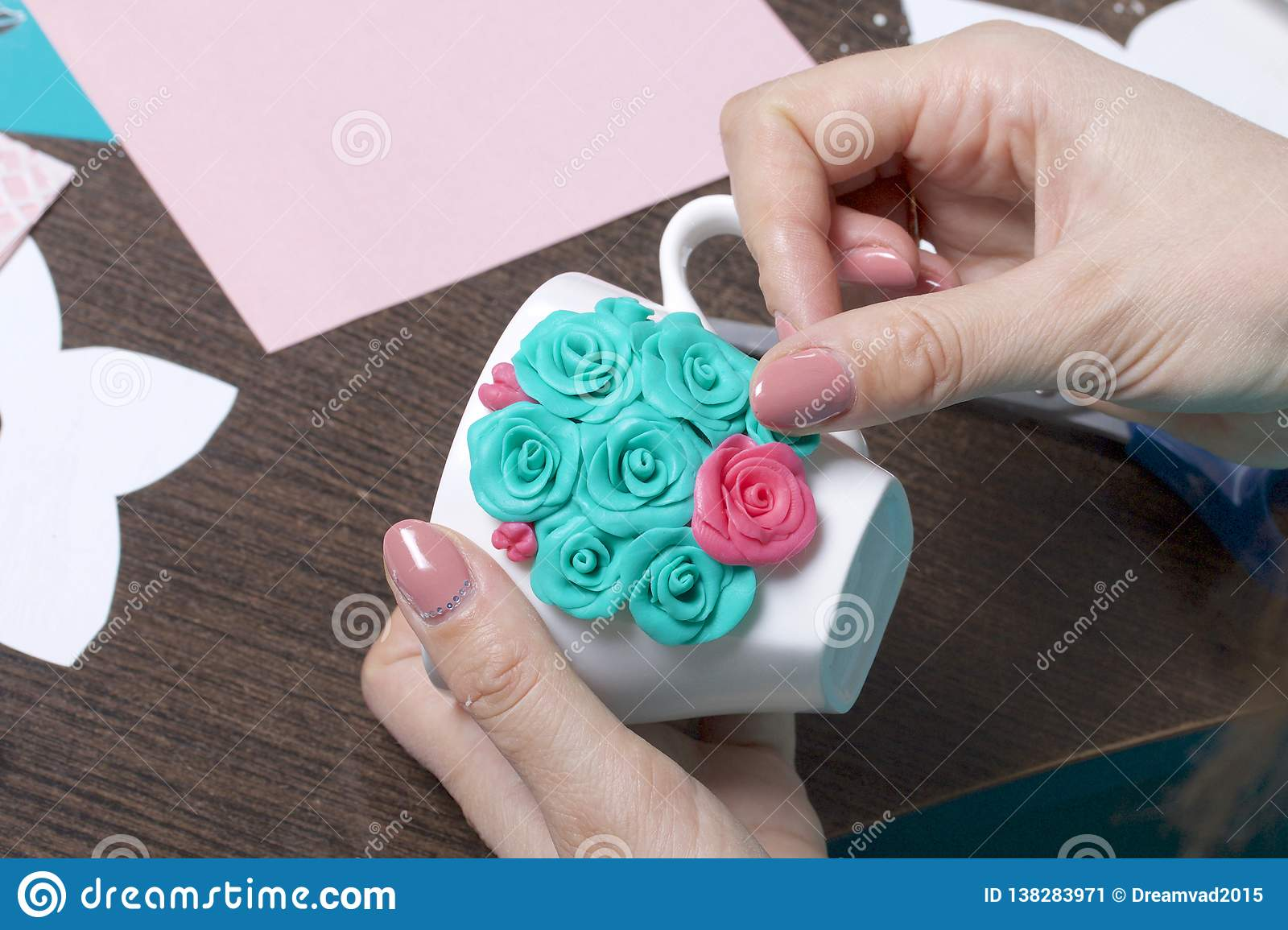 Crafts From Polymer Clay Stock Image Image Of Elements 138283971