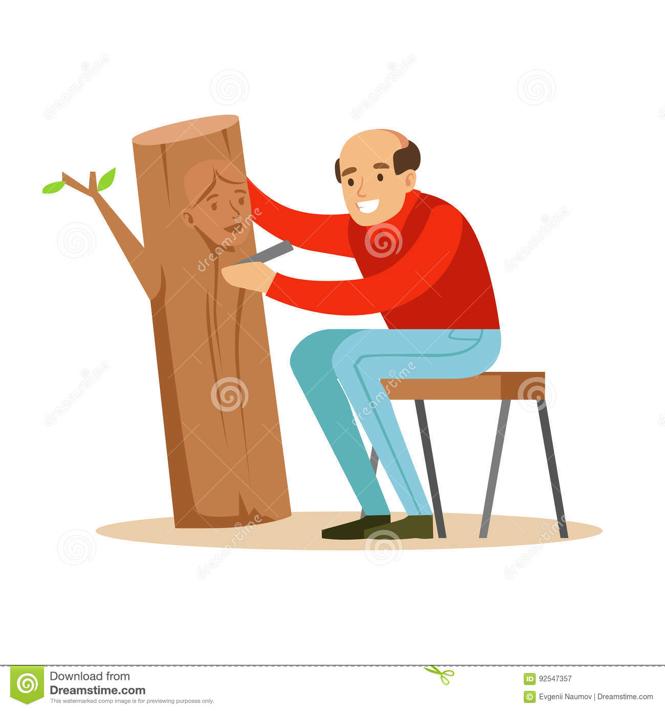 Woodcutter cartoons illustrations vector stock images for Craft hobbies for women