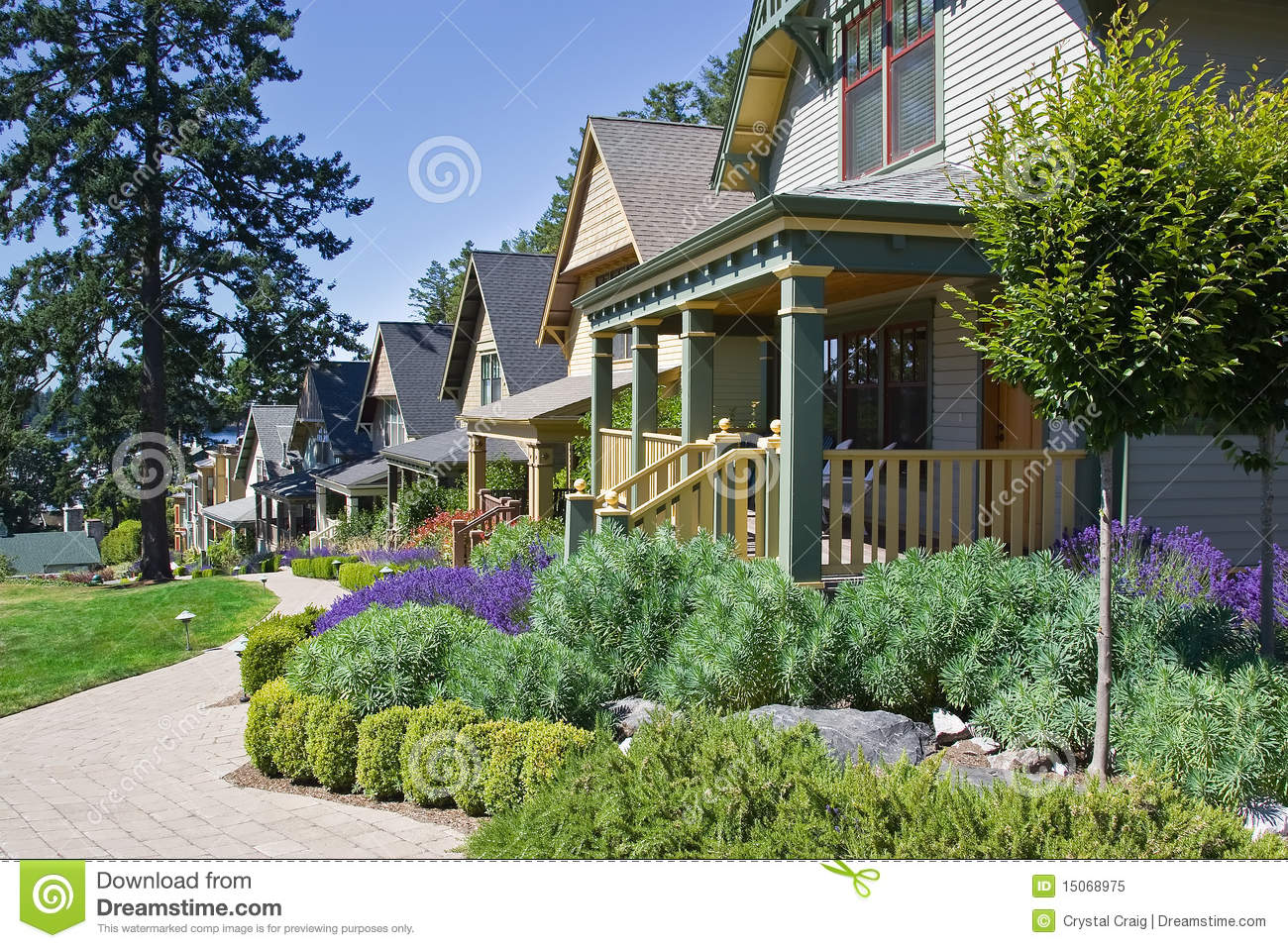 Covered front porch craftsman style home royalty free stock image - Craftsman Style Cottage Homes Royalty Free Stock Photo