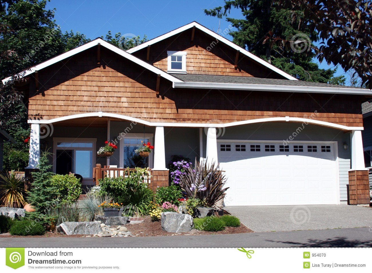 Craftsman style home stock photo image of cottage for Home style photo