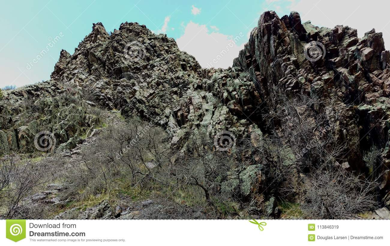 Craggy Outcrop in Slate Canyon