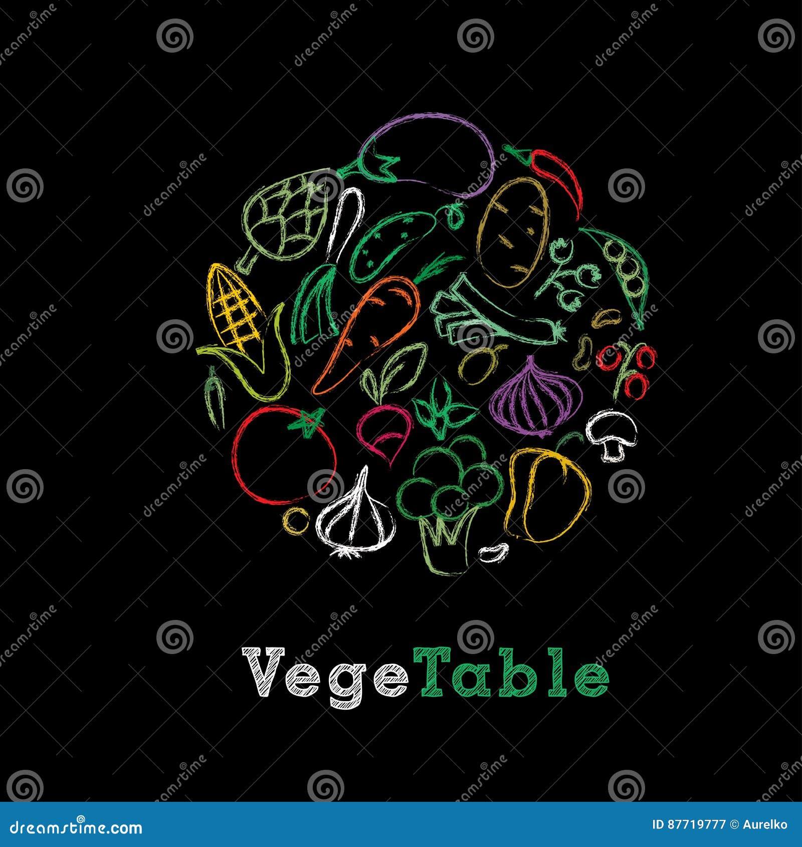 Craie végétale de couleur