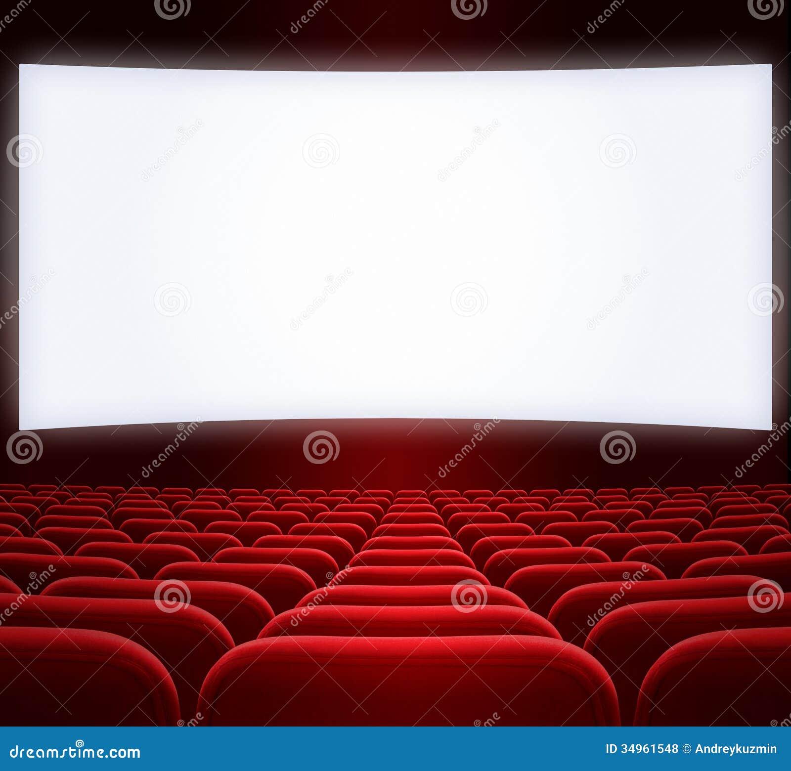 Cran large de cin ma et si ges rouges photos libres de droits image 34961548 - Sieges de cinema occasion ...