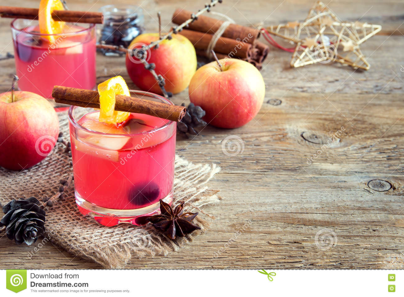 Cranberry and apple cider stock image. Image of alcohol - 80905615