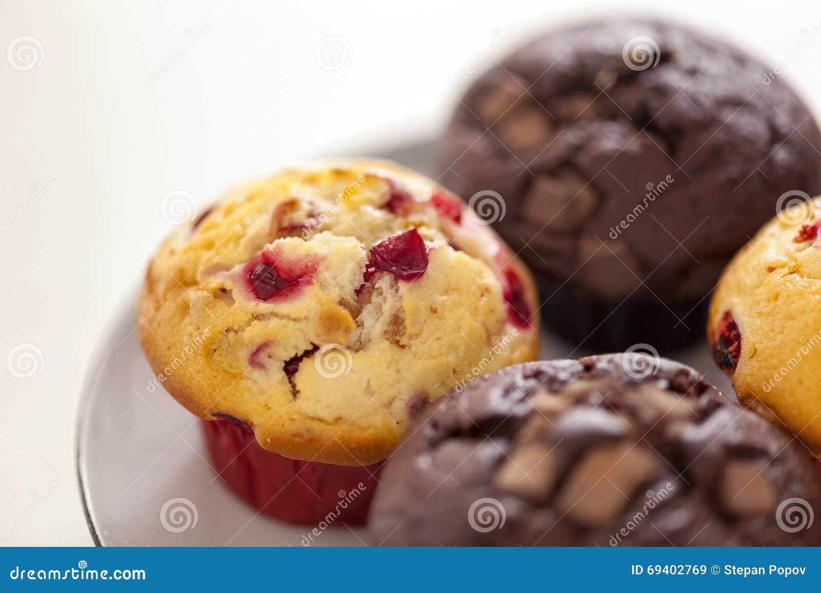 Cranberry i kopia czekoladowego układu scalonego muffins