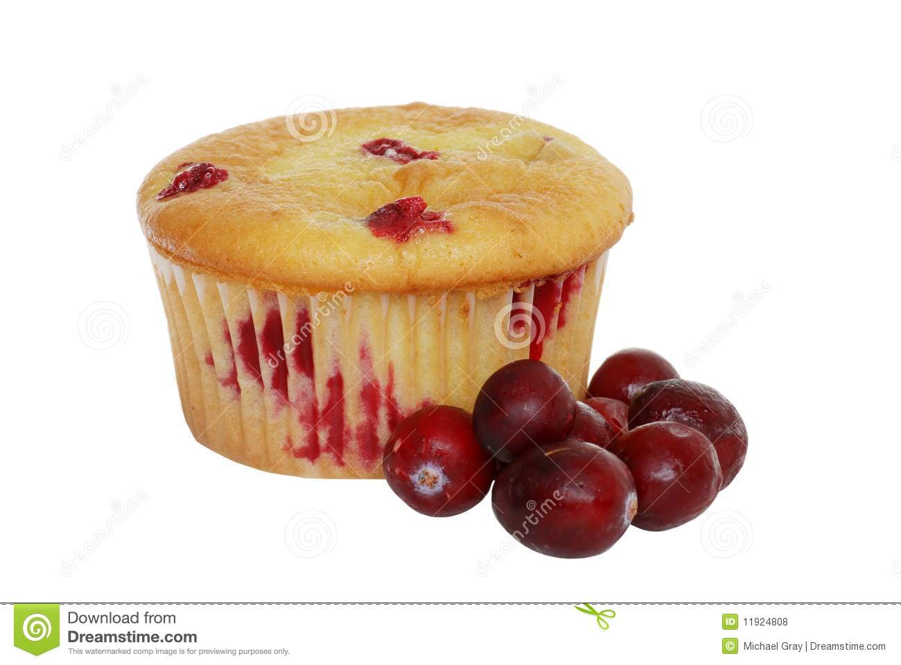 Cranberry isolerad citronmuffin